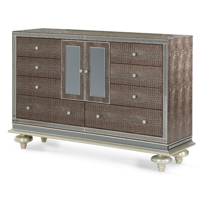 Hollywood Swank 9 Drawer Combo Dresser Color: Amazing Gator