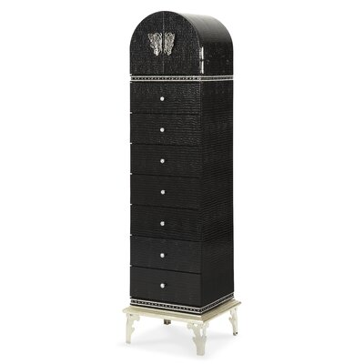 Hollywood Swank 7 Drawer Lingerie Chest Color: Black Iguana