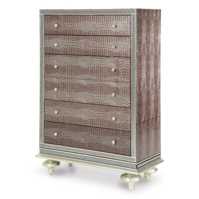 Hollywood Swank 4 Drawer Chest Color: Amazing Gator