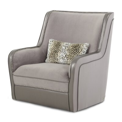 Hollywood Swank Swivel Upholstered Armchair