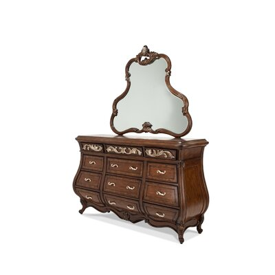 Platine De Royale 12 Drawer Dresser with Mirror