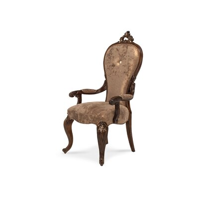 Platine De Royale Arm Chair Finish: Light Espresso