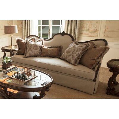 Platine De Royale Sofa Finish: Ivory