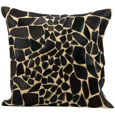 Natural Leather Hide Throw Pillow