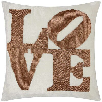 Luminescence Throw Pillow Color: Copper