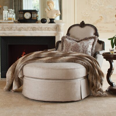 Platine De Royale Chaise Lounge Finish/Upholstery: Light Espresso/Ivory