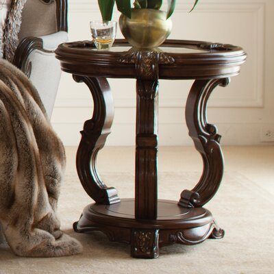 Platine De Royale Chairside Table Finish: Light Espresso