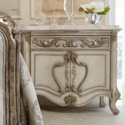 Platine De Royale 1 Drawer Nightstand Finish: Champagne