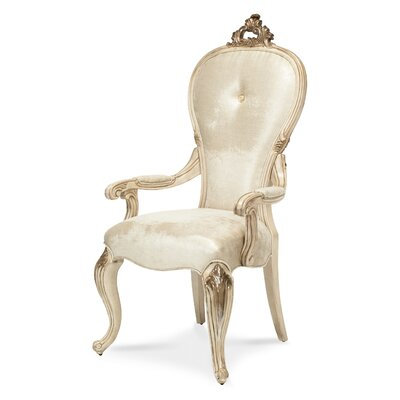 Platine De Royale Arm Chair Finish: Champagne