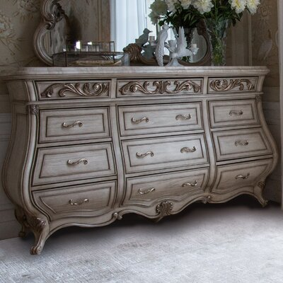 Platine De Royale 12 Drawer Dresser Color: Champagne