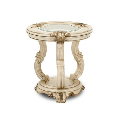 Platine De Royale Chairside Table Color: Champagne