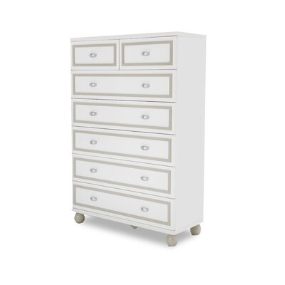 Sky Tower 7 Drawer Chest Color: Cloud White