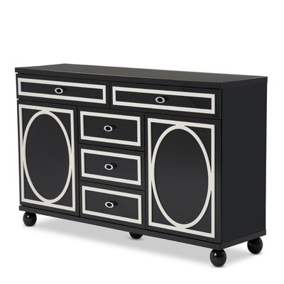 Sky Tower 5 Drawer Dresser Color: Black Ice