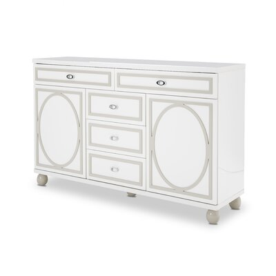 Sky Tower 5 Drawer Dresser Color: Cloud White