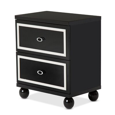 Sky Tower Nightstand Color: Black Ice