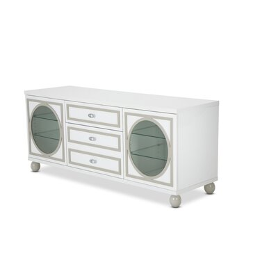 Sky Tower 65.3 TV Stand Color: Cloud White