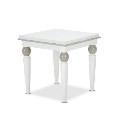 Sky Tower End Table Color: Cloud White