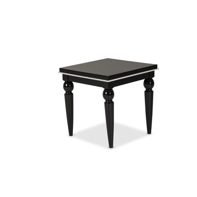 Sky Tower End Table Color: Black Ice