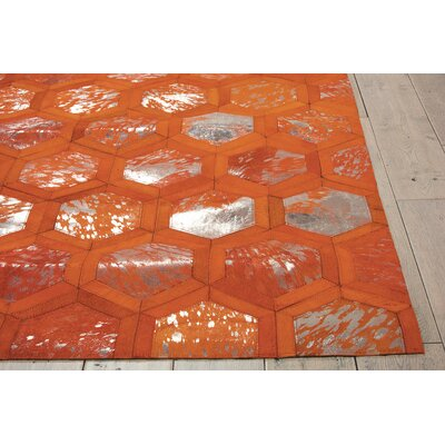 City Chic Hand-Woven Orange Area Rug Rug Size: Rectangle 8 x 10