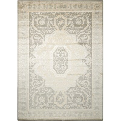 Platine Hand- Woven Beige Area Rug Rug Size: Rectangle 35 x 55