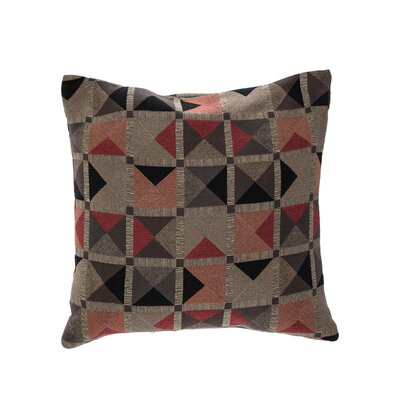 Capri Throw Pillow Color: Flame