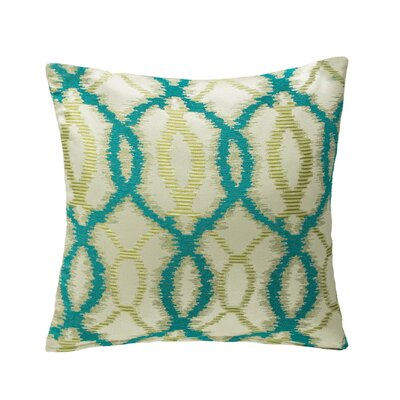 Galway Throw Pillow Color: Aqua