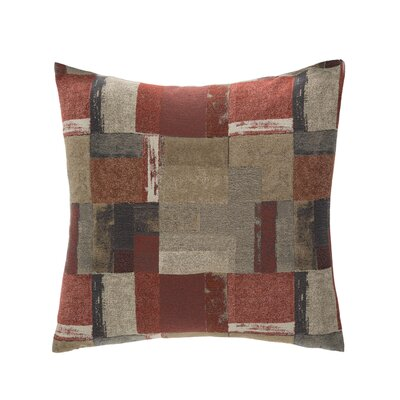 Metropolis Throw Pillow Color: Mahogany