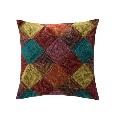 Navajo Throw Pillow Color: Fiesta