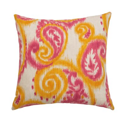 Bangali Throw Pillow Color: Tangerine