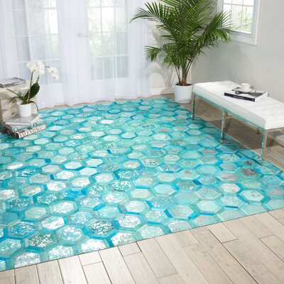 City Chic Hand-Woven Blue Area Rug Rug Size: 53 x 75
