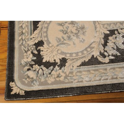 Platine hand-Woven Black/Beige Area Rug Rug Size: Rectangle 76 x 106