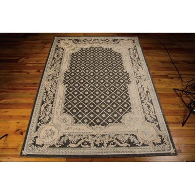 Platine hand-Woven Black/Beige Area Rug Rug Size: Rectangle 93 x 129