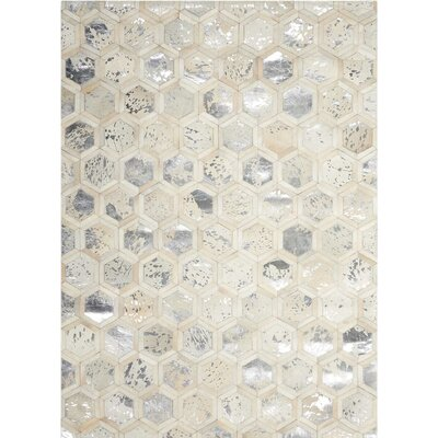 City Chic Hand-Woven Beige Area Rug Rug Size: Rectangle 53 x 75