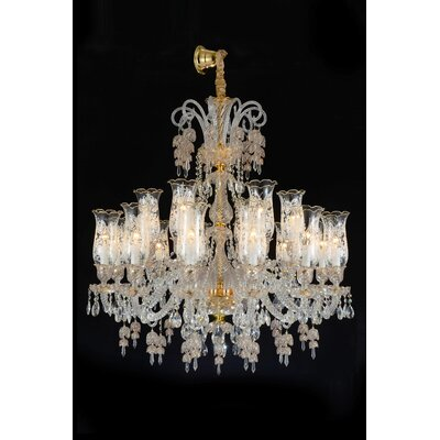 Garnier 18-Light Crystal Chandelier