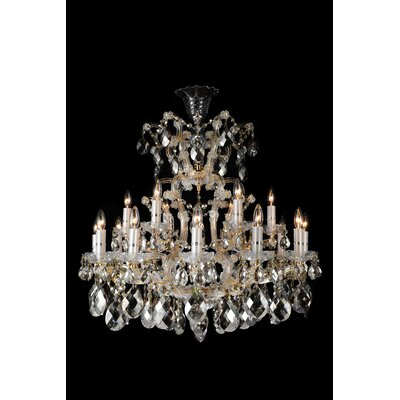 La Scala 19-Light Crystal Chandelier Color: Clear