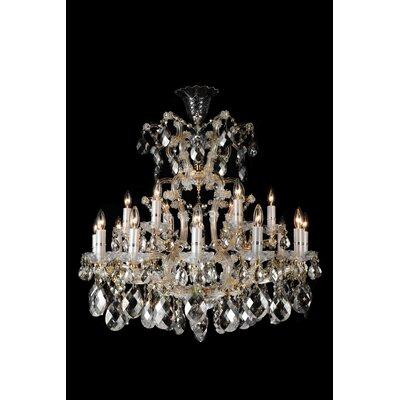 La Scala 19-Light Crystal Chandelier Color: Clear