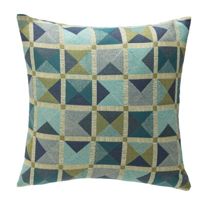 Capri Throw Pillow Color: Azure