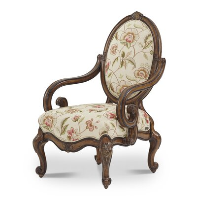 Lavelle Oval Back Wood Armchair
