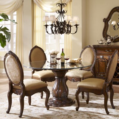 Lavelle Round Glass Top Dining Table