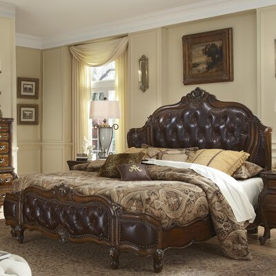 Lavelle Wing Mansion Upholstered Panel Bed