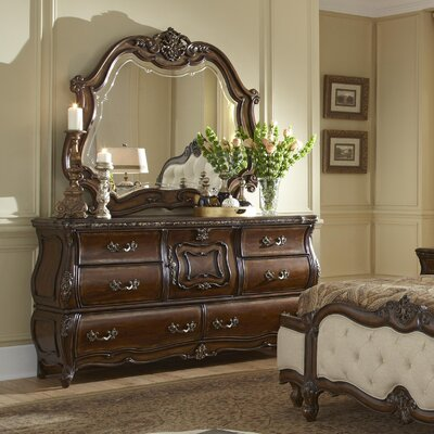 Lavelle 6 Drawer Dresser with Mirror