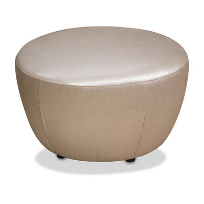 Pippa Round Accent Ottoman Upholstery: Cream
