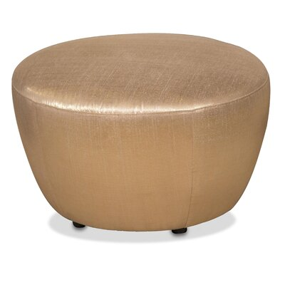 Pippa Round Accent Ottoman Upholstery: Gold