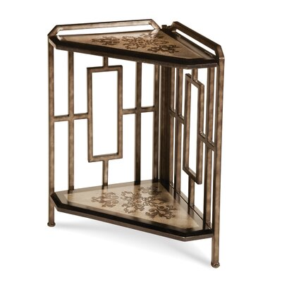 Discoveries 2-Tier Corner Etagere End Table