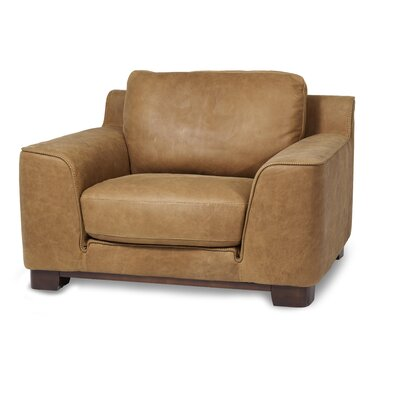 Mia Bella Nafelli Leather Club Chair