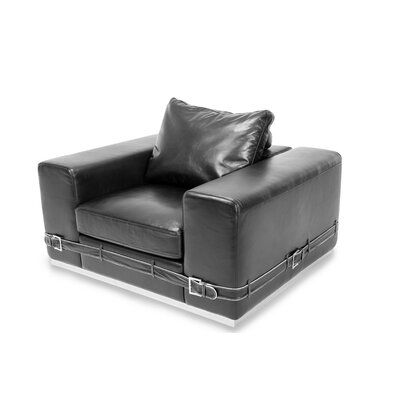 Mia Bella Ciras Leather Club Chair
