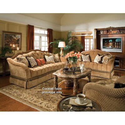 Michael Amini 72815-GREEN-55 Villa Valencia Living Room Collection