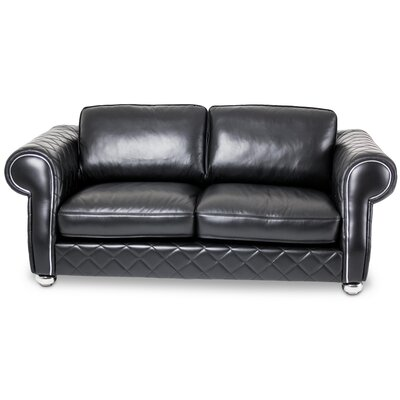 Mia Bella Lugano Leather Loveseat