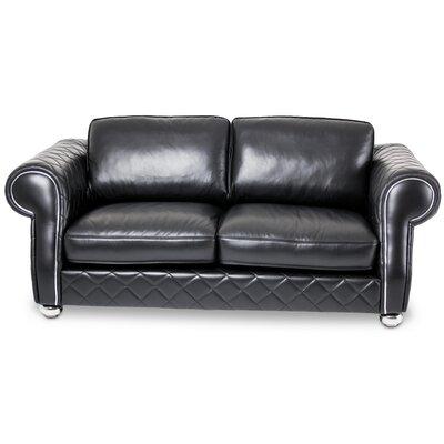 Mia Bella Lugano Leather Loveseat