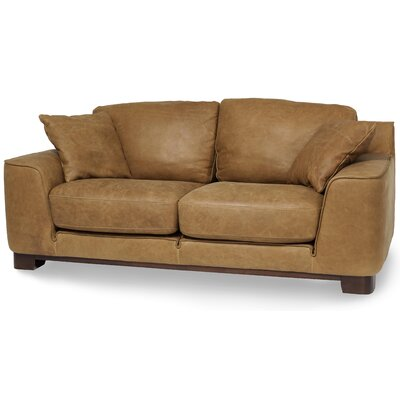 Mia Bella Nafelli Leather Sofa